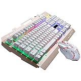 ikevan Jagen Leopard G700Gaming Tastatur Gamer Maus mit Licht Wasserdicht Tastatur Weiß Weiß Mouse Size: 13.2 x 7 x 3.5cm