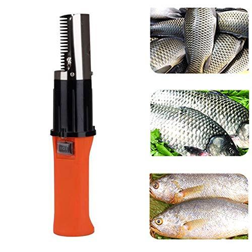 Fischentschupper,Elektrischer Fisch-Scaler, edelstahl elektrisch maschine Automatischer Fisch Haut Scaler Rechargeble Scaler Wasserdichter Schaber für Fische(EU plug)