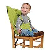 D&F Hochstuhl baby, tragbarer Stuhl-Sitzgurt, Hochstühle für Essen und Feiertagen,Bequeme und nicht zu besetzen Raum/Kindersitz Für Unterwegs - Passt in die Tasche, green