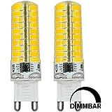 MENGS® Pack de 2 Regulable G9 Lámpara LED 7W AC 220-240V blanca fría 6500 K 80x5730 SMD