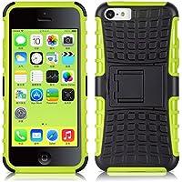 iPhone 5C Hülle, JAMMYLIZARD [ ALLIGATOR ] Doppelschutz Outdoor-Hülle für iPhone 5C, LIMONENGRÜN