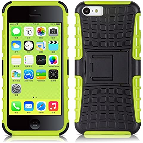 JAMMYLIZARD | Carcasa Alligator Para iPhone 5C Heavy Duty Case De Alta Resistencia, VERDE LIMA