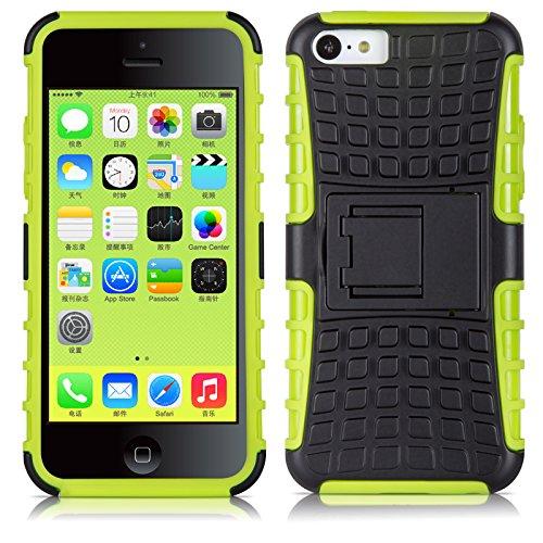 Coque iPhone 5C Coque incassable | JammyLizard | [ ALLIGATOR ] Coque rigide back cover incassable anti choc coque pour iPhone 5C, citron vert