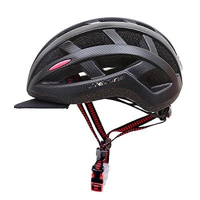Sun Hat Cycling Helmet LIFETONE Bicycle Safe Helmet Mens Mountain Road Bike Professional Riding Leisure Sports Black Helmet by KINGBIKE