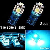 2x iceblue t10 5SMD 5050 auto cupola licenza mappa luce W5W 158 192 194 168 ( Colore della luce : Blu