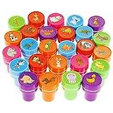 Faburo 26 Stück Stempelset Tiere, Kinderstempel,Selbstfärbend für Kinder