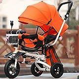 Ssltdm Bicicletta Bambini Ammortizzatore Passeggino per Bambini Triciclo Ribaltabile reclinabile Bici da Bambino Bici Pieghevole 1-3-5 Anni