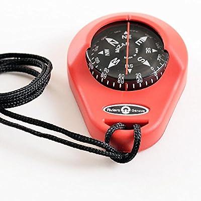 Handkompass Peilkompass schwimmfähig Rot