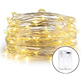 ZJT String Lights for Diwal Decoration Battery Operated Silver Wire Led Diwali Light String(Warm White, 10 Meter with 100 LEDs)