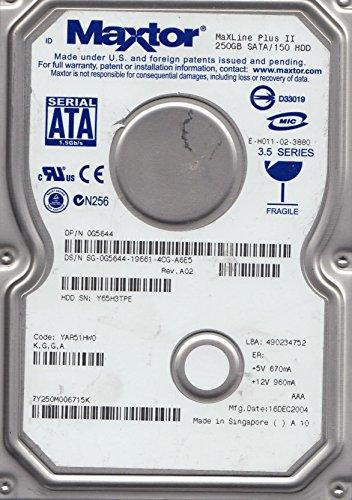 7Y250M0, Code YAR51HW0, KGGA, Maxtor 250GB SATA 3.5 Festplatte -