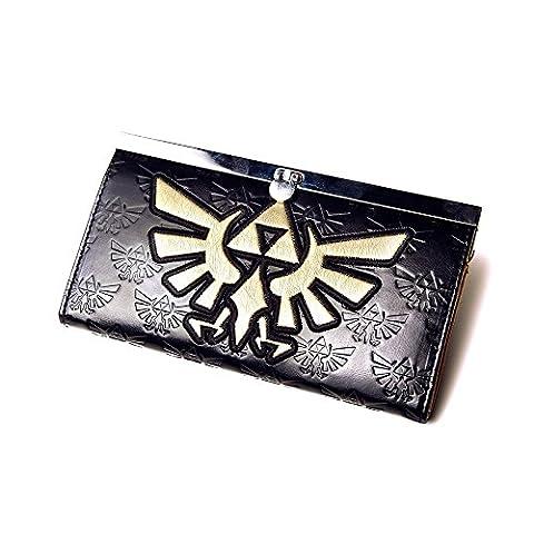 Zelda Golden Logo Geldbörse | Original Portemonnaie/Wallet von Nintendo | in Schwarz aus 70% PVC 30% Polyester