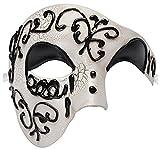 Funpa Maschera Masquerade Maschile Maschera Cosplay Maschera D Epoca Maschera Facciale Fantasma Dell Opera