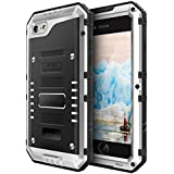 iPhone 6 Plus Case,AutumnFall IP68 H2O Submersible Aluminum Glass flim Metal Case Cover for iPhone 6 Plus 5.5 '' (Silver)