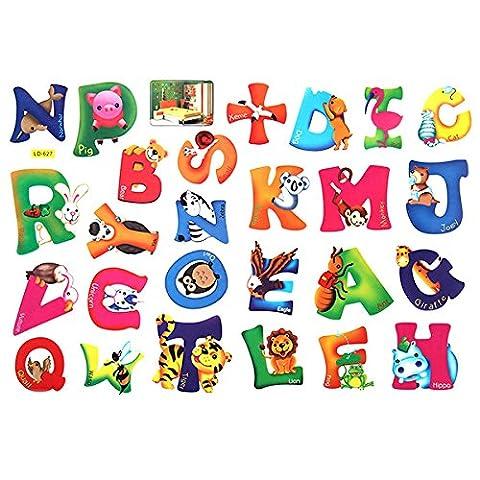 Bluelover Enfants d'apprentissage Alphabet animaux Wall Sticker décoration BRICOLAGE chambre