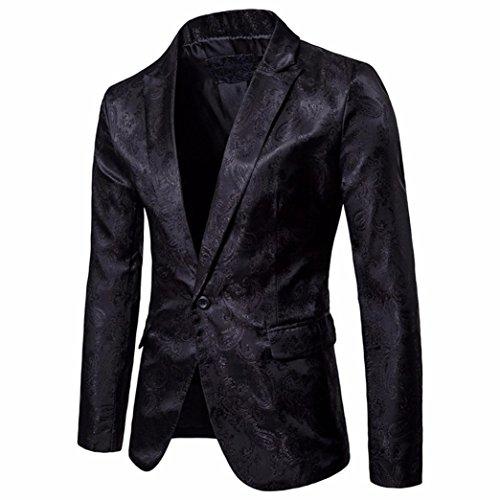 Odejoy cappotto trench corto giacca a manica lunga casual soprabito maschile caldo soprabito uomo cappotti eleganti moda stand collare giacca da manica lunga abit jacket top sweater (black, l)