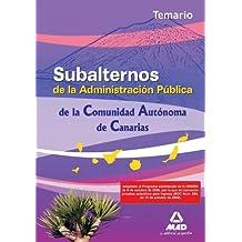 Subalternos De La Comunidad Autónoma De Canarias. Temario