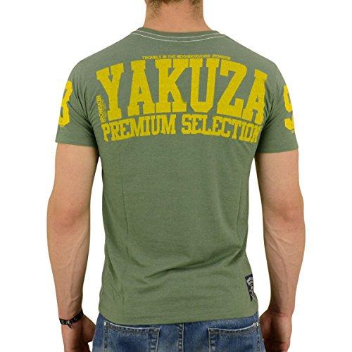 Yakuza Premium Männer T-Shirt Premium Selection YPS 2010 grün meliert - fällt 1 Nr. kleiner aus Grün Meliert