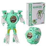 Womdee Reloj Robot para Mujer, transforma Robot, Juguete 3 en 1, proyección Digital, deformación, Robot de Juguete para niños, Juguetes educativos creativos