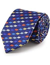 cravate cubes 3D bleue