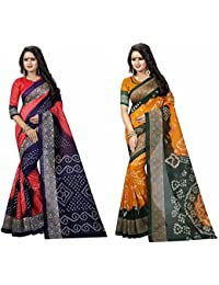 SKY GLOBAL Women's Bhagalpuri Silk Saree Combo (Sky_Combo_2289)