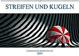 STREIFEN UND KUGELN (Wandkalender 2019 DIN A2 quer): Digitale Grafiken entführen Sie in eine geometrische Traumwelt (Monatskalender, 14 Seiten ) (CALVENDO Kunst)