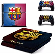 Elton FC Barcelona Theme 3M Skin Sticker Cover For PS4 Console And Controllers