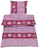 Dresscode 4tlg Bettwäsche Garnitur in Mikrofaser Bettbezug 135x200 Kissenbezug 80x80