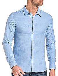 BLZ jeans - Chemise homme bleu ciel manches longues