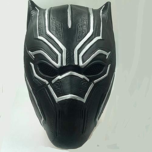 Helden Kostüm Marvel Panther Black - Idollcg Junge Kleidung Zubehör Maske Handschuhe Latex Requisiten Halloween Kostümzubehör Party Dekoration (Color : Black Panther mask, Size : One Size)