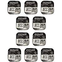 Maxell SR626SW – 377 – Pack de 10 piles en oxyde d'argent