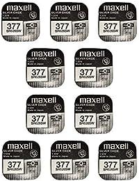 5017aea00 MAXELL SR626SW - 377 - Pila de Óxido de Plata - PACK DE 10 UNIDADES -
