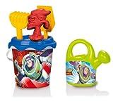 Smoby 040053 - Smoby Beach - Toy Story Eimergarnitur mit Gießkanne 6-TLG, 16 cm