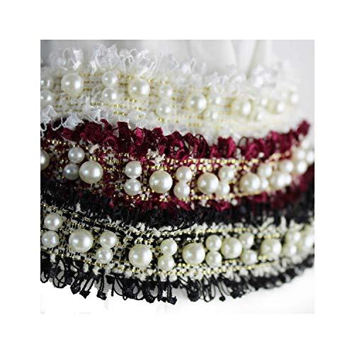 Strumpfband Mit Besatz - B2 Haarband mit Perlen, 3 cm