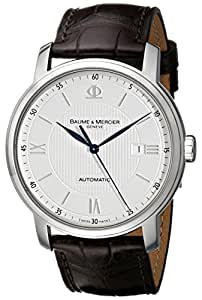 BAUME ET MERCIER CLASSIMA MOA08731 GENTS BROWN CALFSKIN AUTOMATIC DATE WATCH