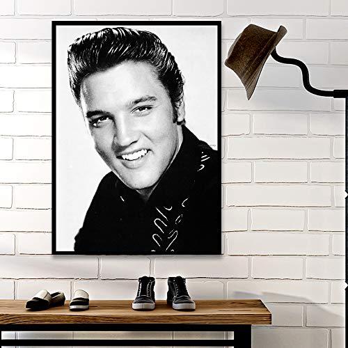 yhyxll Mordern Klassische Musik Elvis Presley Sänger König der Rock'n'Roll Poster und Print Wandkunst Bild Für Wohnzimmer Wohnkultur E 50X70 cm