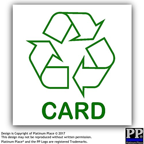 1x card-sticker-recycle Logo Schild, Recycling, Mülleimer, Abfall, grün, Umwelt, Badewanne, Badewannen, Container, Behälter, Karton, Papier, Board (Karton-recycling-container)