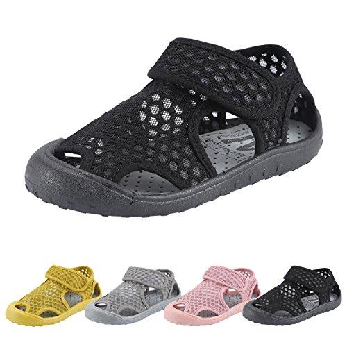 Qimaoo Kinder Sommer Sandalen Outdoor Indoor Schuhe Geschlossene Atmungsaktiv Strand Wanderschuhe für Baby