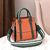 XMY Geformte Handtaschen Farbe Handtaschen wild Breiten Schultergurt große Kapazität einzelne Schulter Umhängetasche Eimer, gelb und grün