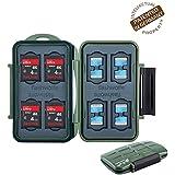 Flashwoife Turtle-SD8MSD16G - survival edition - boîtier pour carte mémoire (résistant à l'eau) pour - 8 x SDHC et 16 x microSD en vert olive