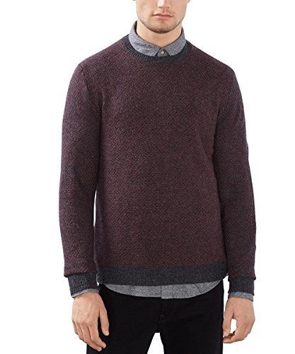 ESPRIT Herren Pullover Mit Wollanteil - Regular Fit Grau (Anthracite 010)