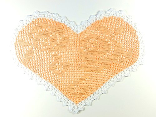 hen gehäkeltes Deckchen Tischdeko Herz Muttertag (Herz-deckchen)