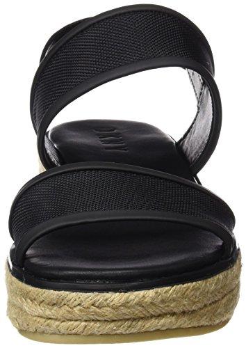 DKNY Shana Sling Back Espadrille, Plateforme plate femme Noir (Black)