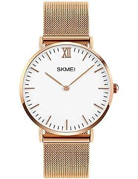 XLORDX Classic Herren Quarz Armbanduhr elegant Quarzuhr Uhr modisch Zeitloses Design klassisch Rosegold Metall