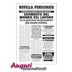Idea Regalo - Biglietto auguri giornale pensionata