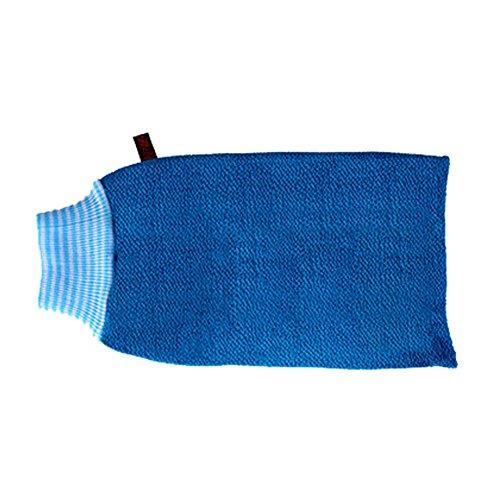 Serviette Exfoliant Retour laveur mousseux Éponge Bath Bleu #