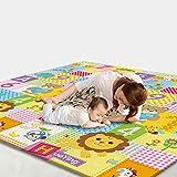 WDXIN Baby Spielmatte Spielteppich Krabbeldecke Verdicken Haushalt Umweltschutzmatte Geschmacklos Feuchtigkeitsfest Spieldecke Drop-Proof-Pad,A200CM*180CM*1CM
