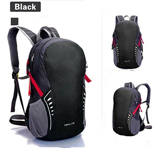 Un sacco di linea impermeabile ultra carica di nuovo giorno sport borsa spalla equitazione escursionismo zaino nuovo uomini e donne 38 * 24 * 15 cm , black , 19 inch Black