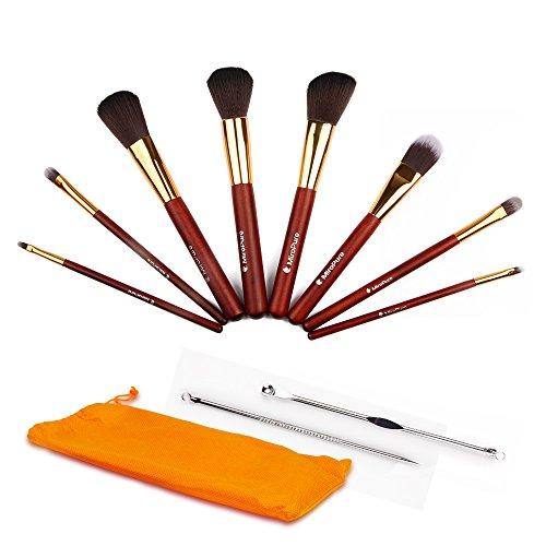 Set 8 pennelli da trucco professionali MiroPure – include due aghi rimuovi punti neri per acne e brufoli