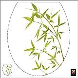 PLAGE 260208 Adhesivo de decoración para tapas de WC Sticker Smooth, Bambus, 40 x 34 cm