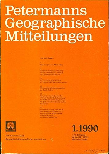Humanökologische Modelle als Ansätze der Territorialprognose, in: PETERMANNS GEOGRAPHISCHE MITTEILUNGEN, 1. Quartal / 1990.
